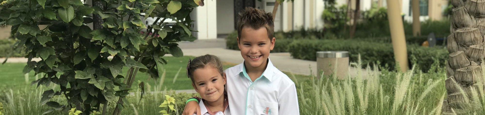 Kyan en Nomi weer naar school in 2019