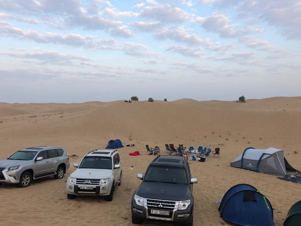 Ons eerste kampeer avontuur in de desert