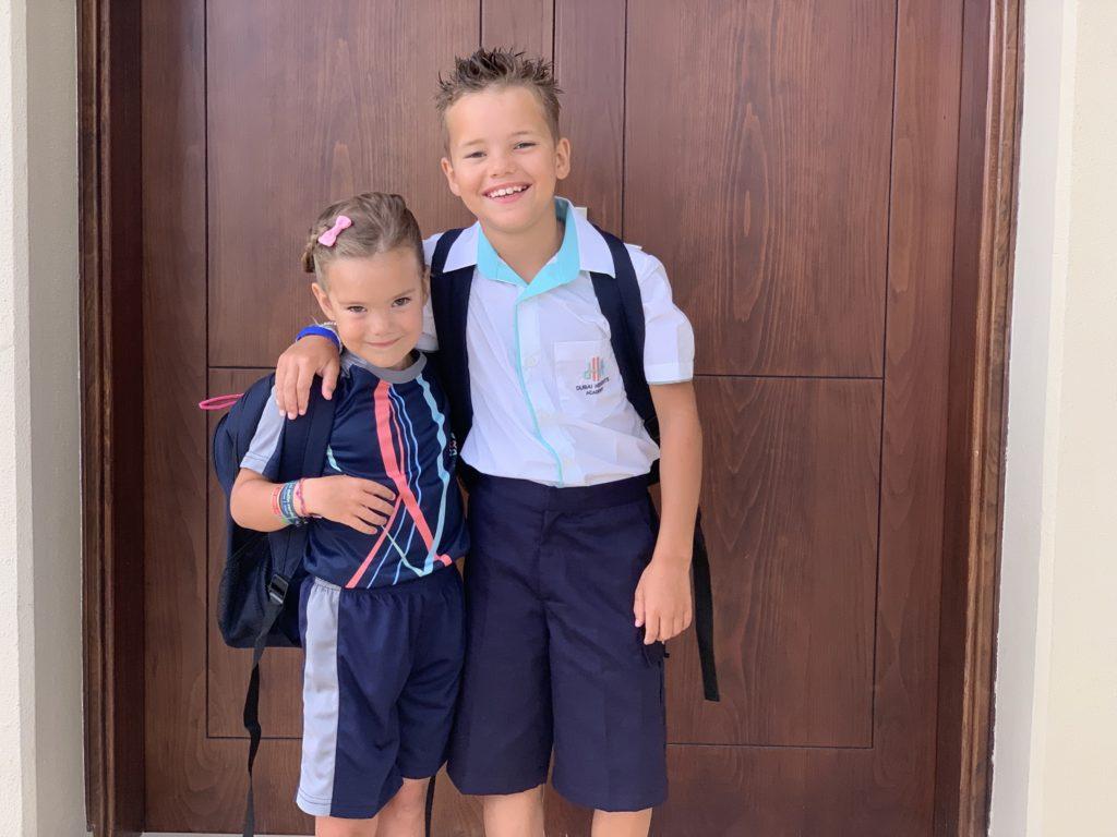 Kyan Nomi Dubai Heights Academy schooldag 1