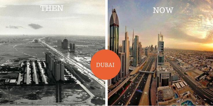 Dubai a few years ago vs now